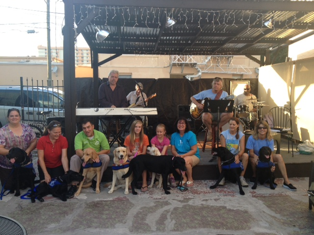 Guide Dogs at Cafe
