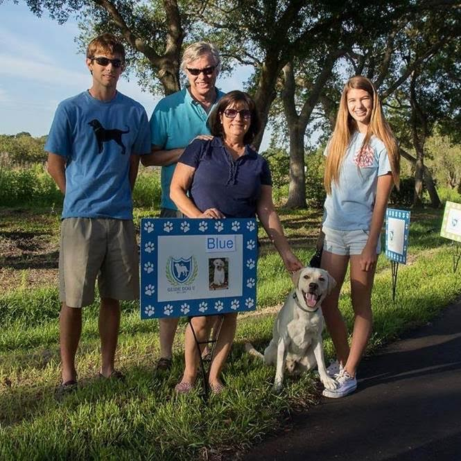 saunders and walker guide dog family
