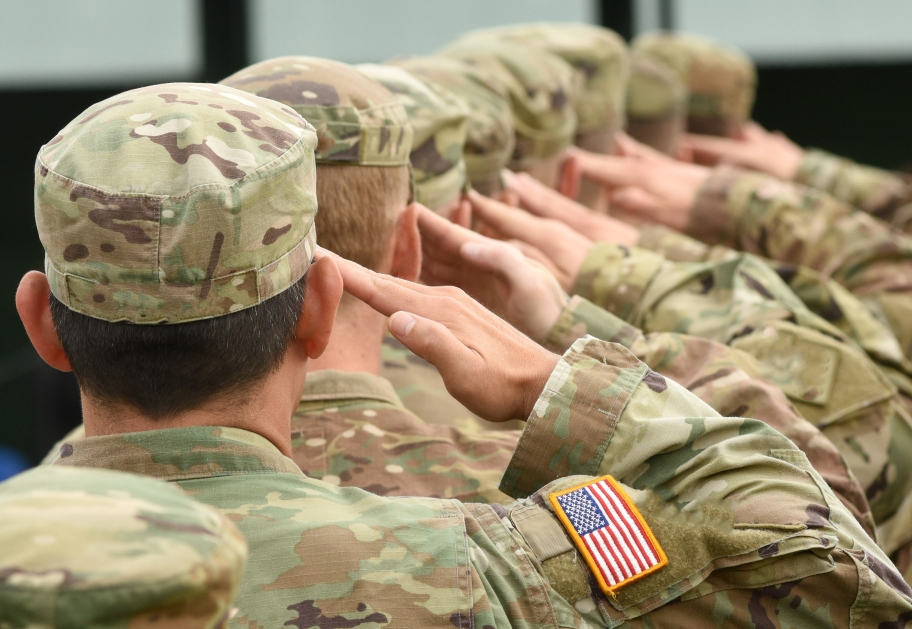 military soldiers saluting